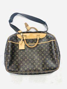 Louis-Vuitton-Monogram-Alize-24-Heures-2Way-Travel-Weekend-Bag-Strap-Authentic