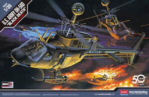 ACADEMY-1-35-Cloche-OH-58D-U-S-Armee-034-Noir-Mort-034-12131