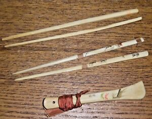 Antique-Yak-Bone-Chopsticks-amp-Another-Piece