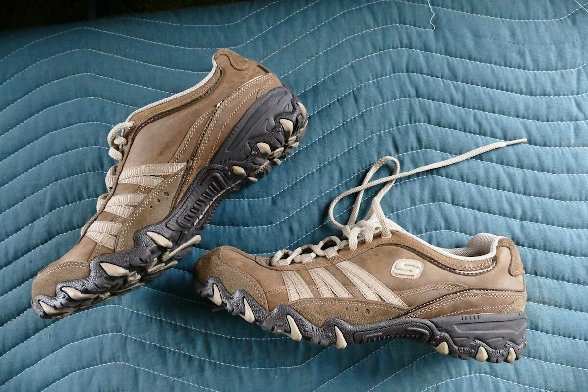 SKECHERS Running Casual Trail Walking Hiking Running SKECHERS Nubuck Leather Excellent Traction b57f40