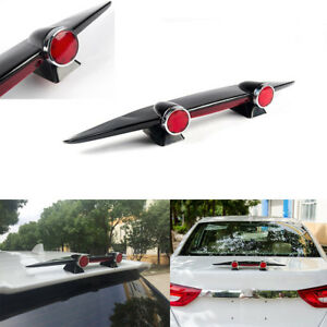 Car-Mini-Spoiler-Wing-Small-Airplane-Double-Lamps-Styling-Without-Perforation