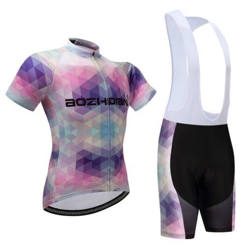 Bib Women/'s Bike Clothing Short Sleeve Cycling Jersey and Shorts Padded Kit