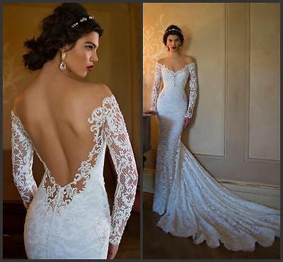 Berta Like Mermaid Wedding Dress Lace Long Sleeve Sheer,Reg $349.00 Sale $269.00