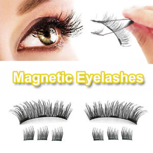 33bbbc5a32f Image is loading NO-Glue-3D-Magnetic-Eyelashes-Lashes-REUSABLE-False-