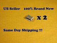 2 X Micro Usb Charging Sync Port For Motorola Droid Xyboard 10.1 Mz617 Us 822
