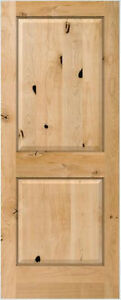 Image Is Loading Knotty Alder 2 Panel Square Raised Solid Core