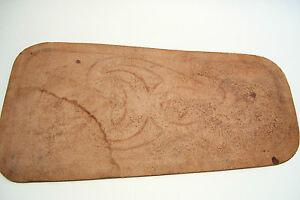 Vintage Mexican Mexico Leather Piece Hand Tooled Crafts Chair Back Wall  Hanging