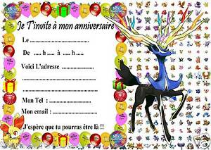 Beliebt 5 cartes invitation anniversaire Pokemon X & Y 029 d'autres en  UR37