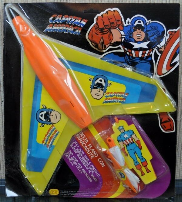 CAPTAIN AMERICA HANG GLIDER Marvel New Gio Co  ONLY MOC 1979 TRULY RARE