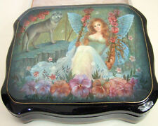"Hand Painted One of a Kind Russian Lacuqer Box ""Fairy & The Wolf"" by Frolova"
