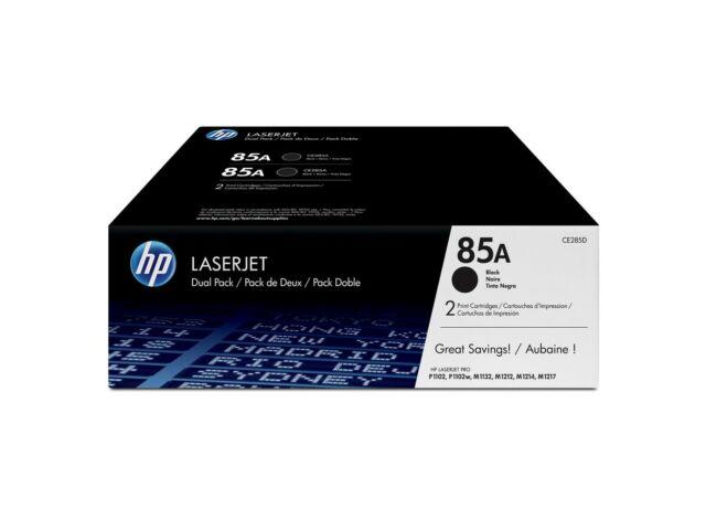 NEW HP 85A Dual Pack black toner OEM Genuine CE285A