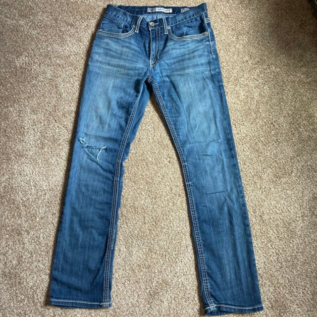 BKE Mens Casual Jake Straight blue Jeans Size 32L ...