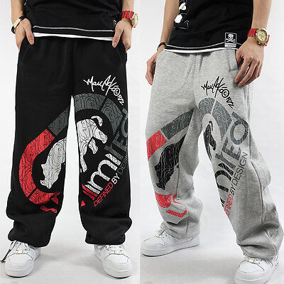 Men S Ecko Unltd Hip Hop Skateboarding Sweatpants Cotton Loose Printing Pants Ebay
