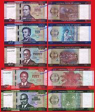 LIBERIA NEW SET 5 10 20 50 y 100 Dollars dolares 2016 (2017) AA Pick New  UNC