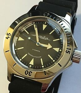 Details about VOSTOK AMPHIBIAN RUSSIAN DIVER WATCH AUTOMATIC 200 m #120512 NEW