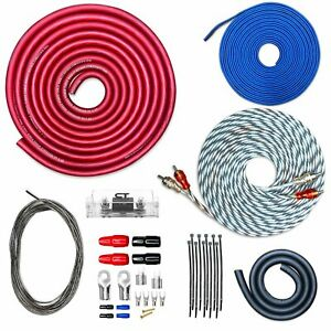 CT Sounds CCA Car Amp Kit 1/0 AWG 0GA REF Series Wire Installation Amplifier Kit