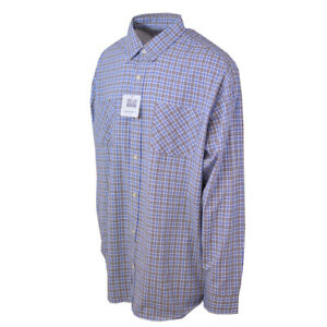 Carhartt-Men-039-s-S28-Blue-Yellow-Plaid-L-S-Woven-Shirt-XL-2XLT-Retail-45