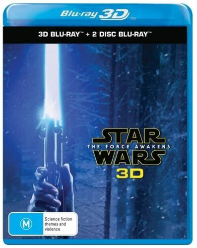 1 of 1 - Star Wars The Force Awakens 3D + 2D Blu-Ray BRAND NEW SEALED Region B