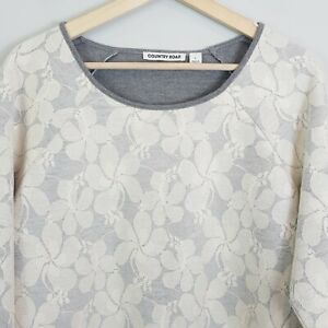 COUNTRY-ROAD-Womens-Lace-Top-As-new-Size-L-or-AU-14-US-10