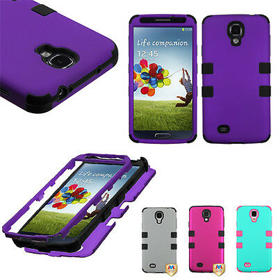 For Samsung Galaxy S4 S 4 SIV Hard TUFF Hybrid Rugged Protective Cover Case