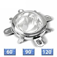 Led Lens Optical Glass 60 120 Degree Reflector Collimator Fixed Bracket 10 100w