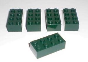 JEU-JOUET-ENFANT-Personnage-LEGO-Lot-5-BRIQUES-2X4-VERT-BOUTEILLE