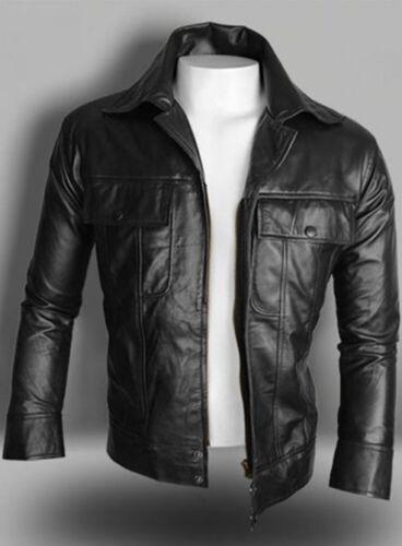 Elvis Men/'s Black Classic Soft Lambskin Real Leather Fashion Jacket