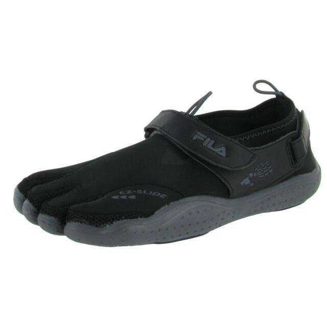 445f7eb0d600 Fila Mens Skele Toes EZ Slide Black Scuba Running Shoes 10 Medium (D) BHFO