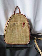 sac  à dos arthur & aston cuir et raffia marron