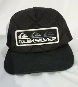 Quicksilver-Snap-back-Trucker-Mesh-Hat-Surf-Beach-Gear-Urban-Surfer