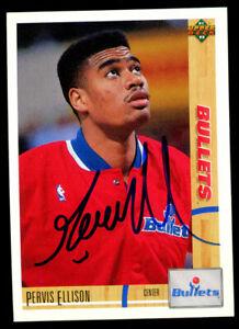 Pervis Ellison #385 signed autograph auto 1991-92 Upper Deck Basketball Card