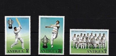 1975 World Cup Cricket Mnh Antigua Sg466/8 Antigua & Barbuda (1981-now)