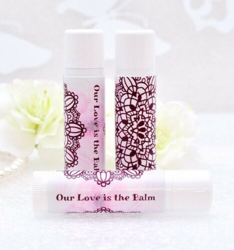 30 Vanilla Lip Balm Wedding Party Favor Chapstick Wedding Favors