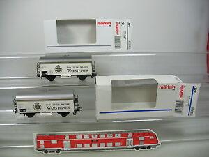 Ak575-0-5-2x-Marklin-Marklin-h0-ac-4417-la-biere-wagons-etais-une-DB-Neuw-OVP