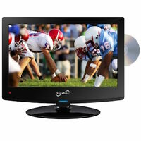 Supersonic 15 Ac Or Dc Led Lcd Hd Tv Television + Built In Dvd Player + Usb
