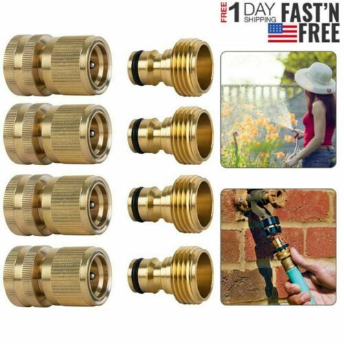 3//4/' Garden Hose Quick Connect Water Hose Fit Brass Female Male Connector Set