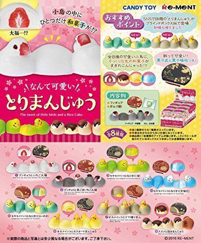 bird Manju Candy toys Nante cute take bun all 8 pieces Goods only, no gum
