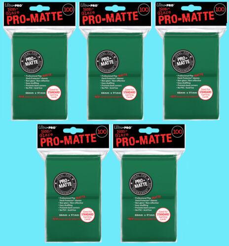 500 ULTRA PRO GREEN PRO-MATTE STANDARD SIZE DECK PROTECTORS Card Sleeves MTG
