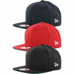 New Era 9Fifty Plain Blank Snapback Hat Original Uniform Cap Black ... 83e9ba6f2f8