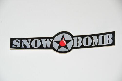 1 Vintage SNOW BOMB Snowboard Skiing Bumper Sticker decal ski winter