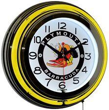 "Willys Sales /& Service 19/"" Double Neon Clock Orange Neon Man Cave Garage Willy/'s"
