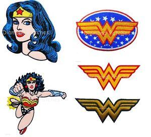 Wonder-Woman-logo-head-Superhero-Hero-Cartoon-Kids-Embroidered-Iron-on-Patch