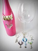 Girly Fashion Princess Themed Wine Glass Charms