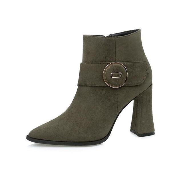 Stivali stivaletti bassi bassi stivaletti scarpe stiletto 9 cm verde  eleganti simil pelle 9607 01269e