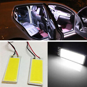 Light-Bulb-12V-White-36-COB-Xenon-HID-LED-Dome-Map-Car-Interior-Panel-Lamp-2pcs