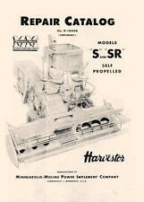 Minneapolis Moline S Sr Combine Propelled Parts Manual