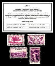 1935 COMPLETE YEAR SET OF MINT -MNH- VINTAGE U.S. POSTAGE STAMPS