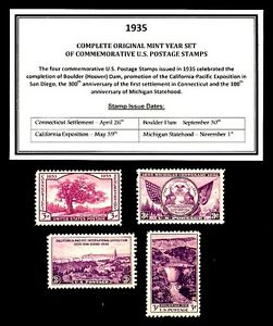1935-COMPLETE-YEAR-SET-OF-MINT-MNH-VINTAGE-U-S-POSTAGE-STAMPS