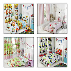 info for bb3fe e9020 Details about Girls and Boys Toddler Duvet Cover and Pillowcase - Cotbed  Junior Bedding Sets
