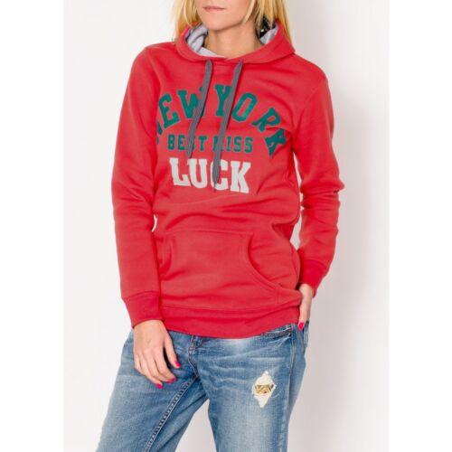 Damen Sweatshirt Hoodie Sweater Pullover Kapuze Print M 34 36 38 Sport Freizeit